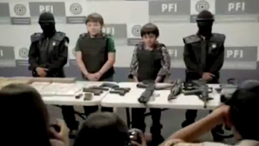 """Children portray drug lords, corrupt police officers and human traffickers in """"Niños Incómodos,"""" which was viewed more than 1.8 million times in one week on YouTube."""