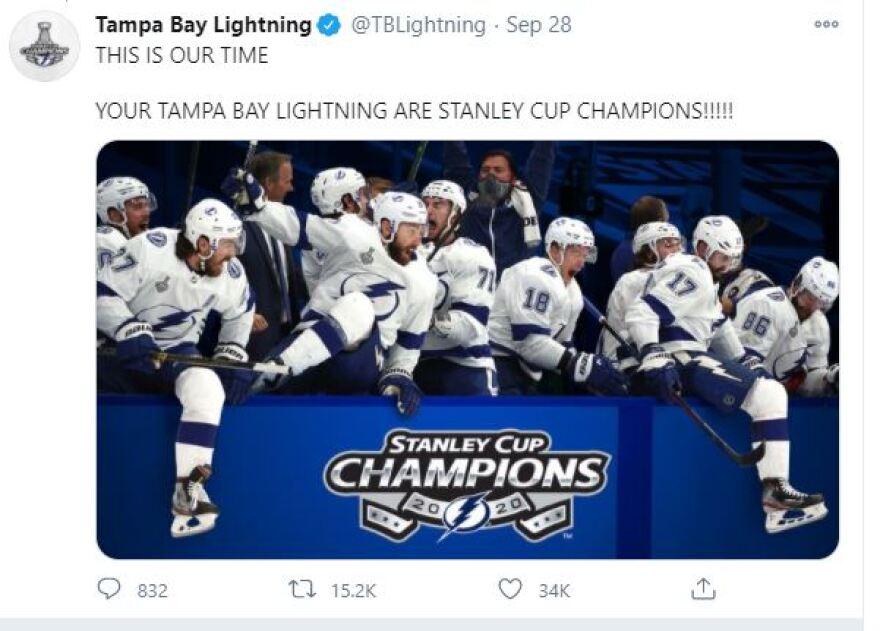 Tampa Bay Lightning celebrate Stanley Cup