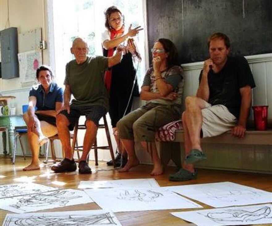 Leslie Laskey, second from left, at Art Kamp in 2010