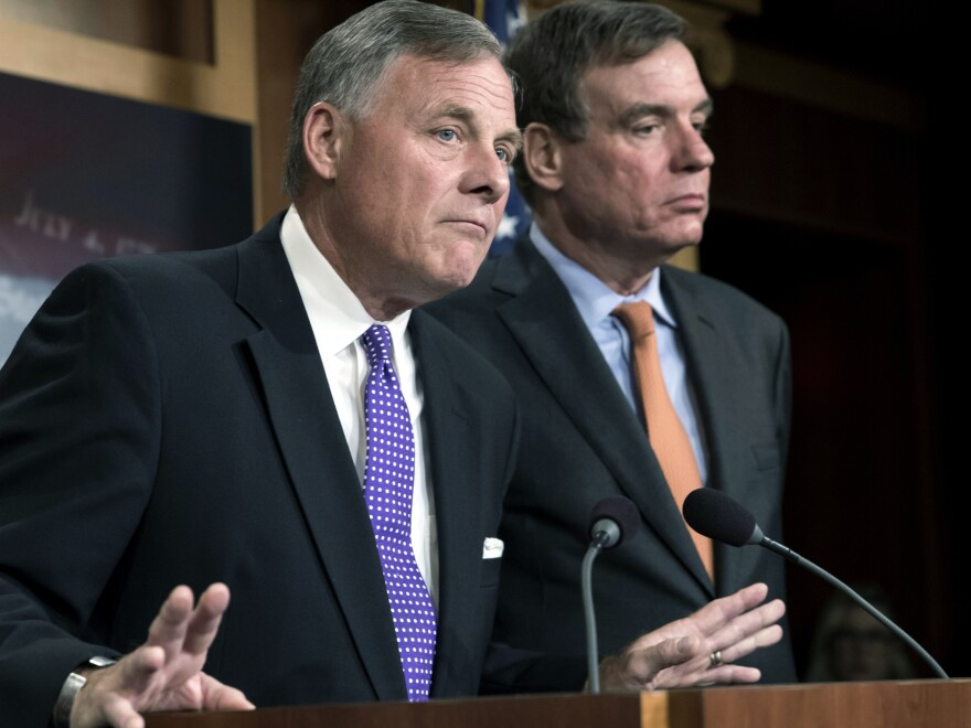 Senate Select Committee on Intelligence Chairman Richard Burr, R-N.C., (left) and Vice Chairman Mark Warner, D-Va., released a new report on how Russians used social media targeting to meddle with the 2016 election.