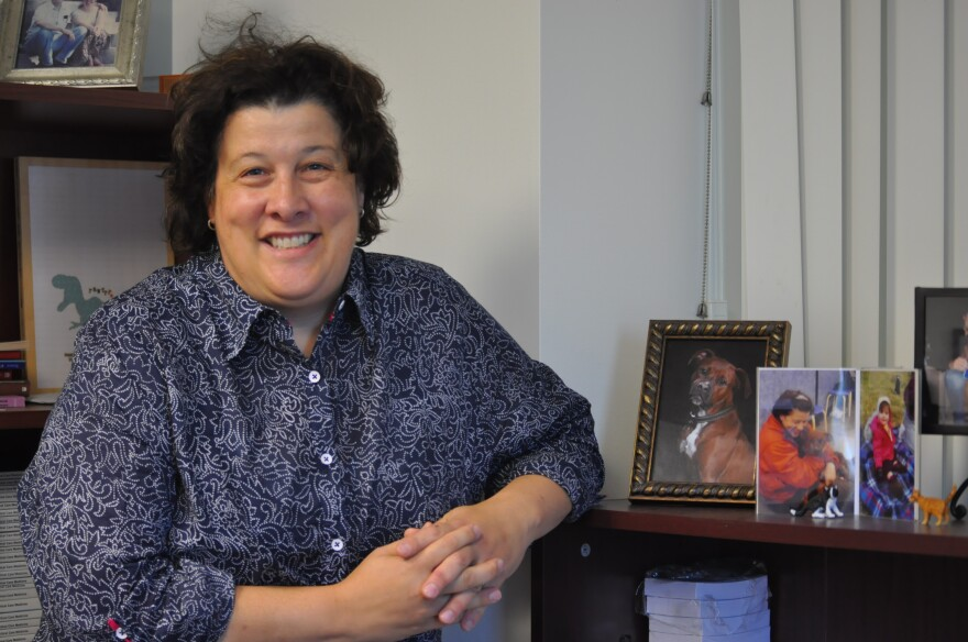 Dr. Maria Dans, a palliative care physician, at her office at Barnes Jewish Hospital.