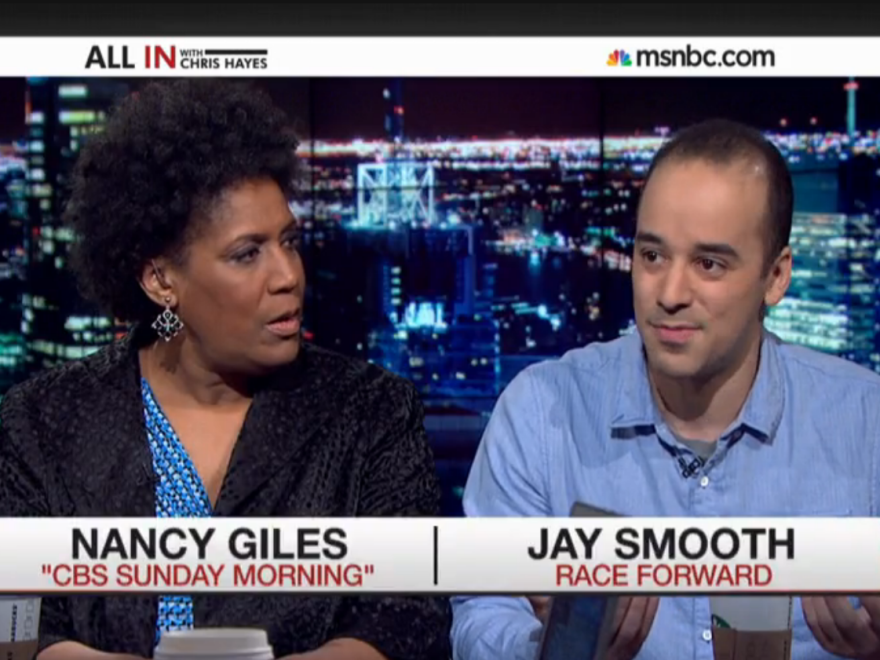 """It's also interesting because I'm actually black, but you assumed otherwise,"" Jay Smooth told Nancy Giles."
