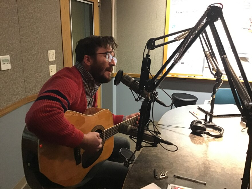 The Paint Splats' Brandon Berry in the WYSO studio