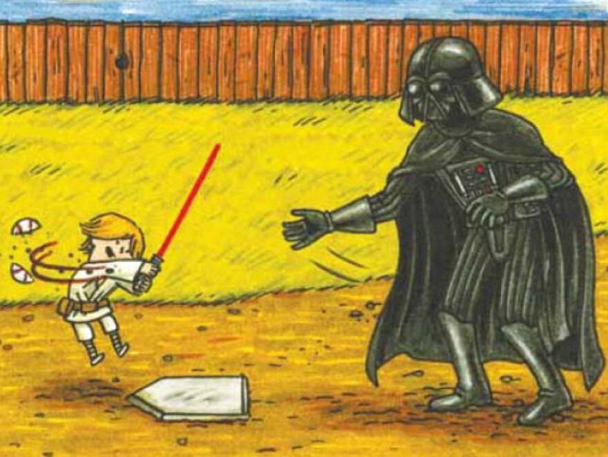 """""""I don't know why I didn't expect this, but kids really like the book, maybe even more than the adult audience,"""" says Jeffrey Brown, author of <em>Darth Vader and Son</em>, a best-selling panel book about Vader's frustrations raising a 4-year-old Luke Skywalker. """"A lot of people have said their kids want it as their bedtime book just again and again and again."""""""