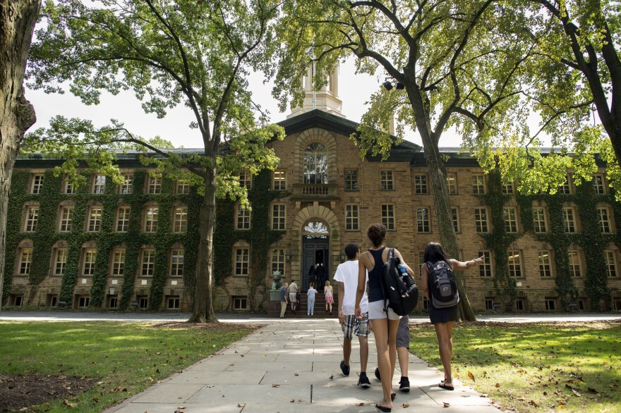 Six students and a visitor have fallen ill with meningitis at Princeton University in New Jersey, shown here in August 2013. All have recovered or are recovering, officials said.