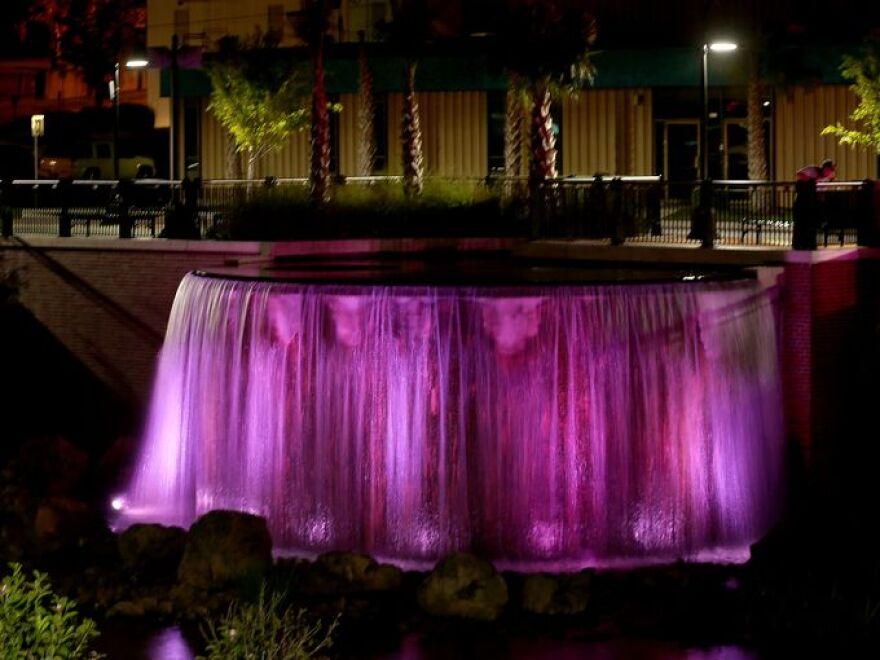 Pink Cascades Park Waterfall