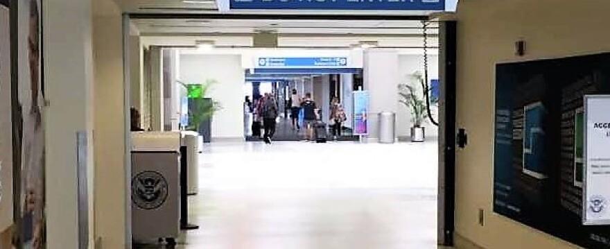 Main concourse Akron Canton Airport
