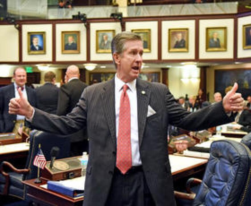 Rep. Jim Boyd (R-Bradenton) on the House floor.