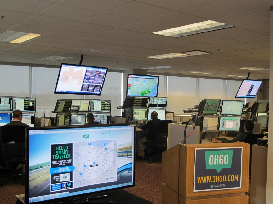 Photo of the Ohio Department of Transportation's Traffic Center