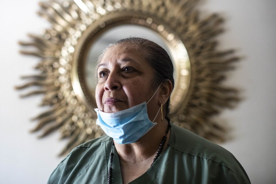 Brenda Ramos, mother of Mike Ramos, at her home in South Austin.