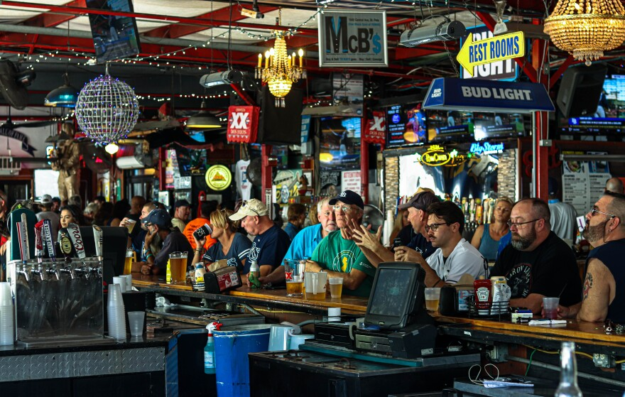 Die-hard Tampa Bay Rays fans turned out Friday afternoon at Ferg's Sports Bar in St. Petersburg to catch the Rays' 6-2 loss to the Houston Astros in Game 1 of the American League Divisional Series.