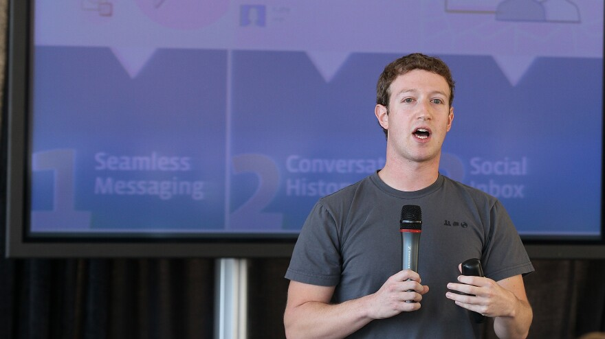 Facebook founder and CEO Mark Zuckerberg at the 2010 event announcing Facebook's new email messaging system. This week, the company shuttered the service.