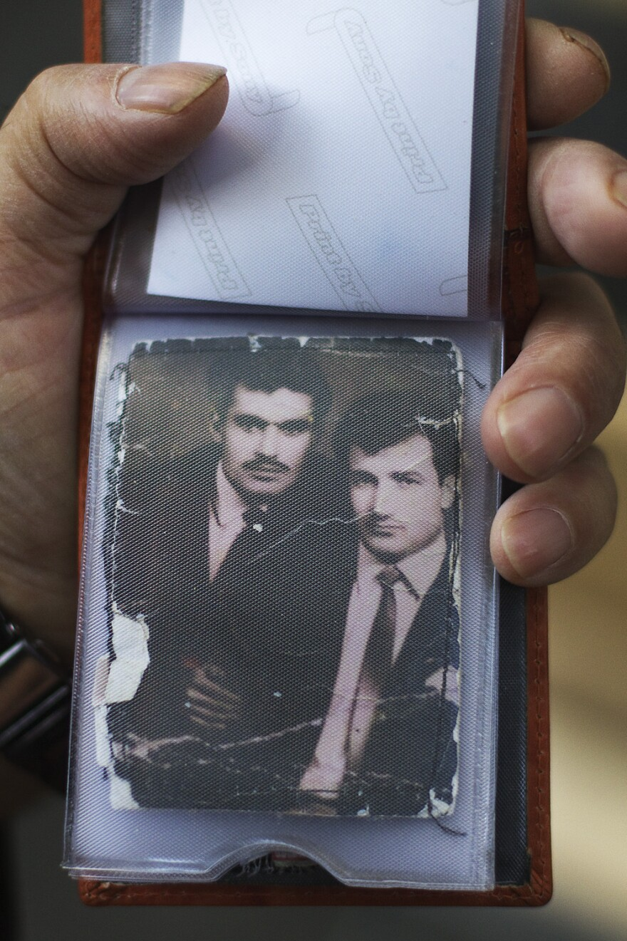 Ali, who lived in Turkey until age 40, is shown here on the left at age 25.