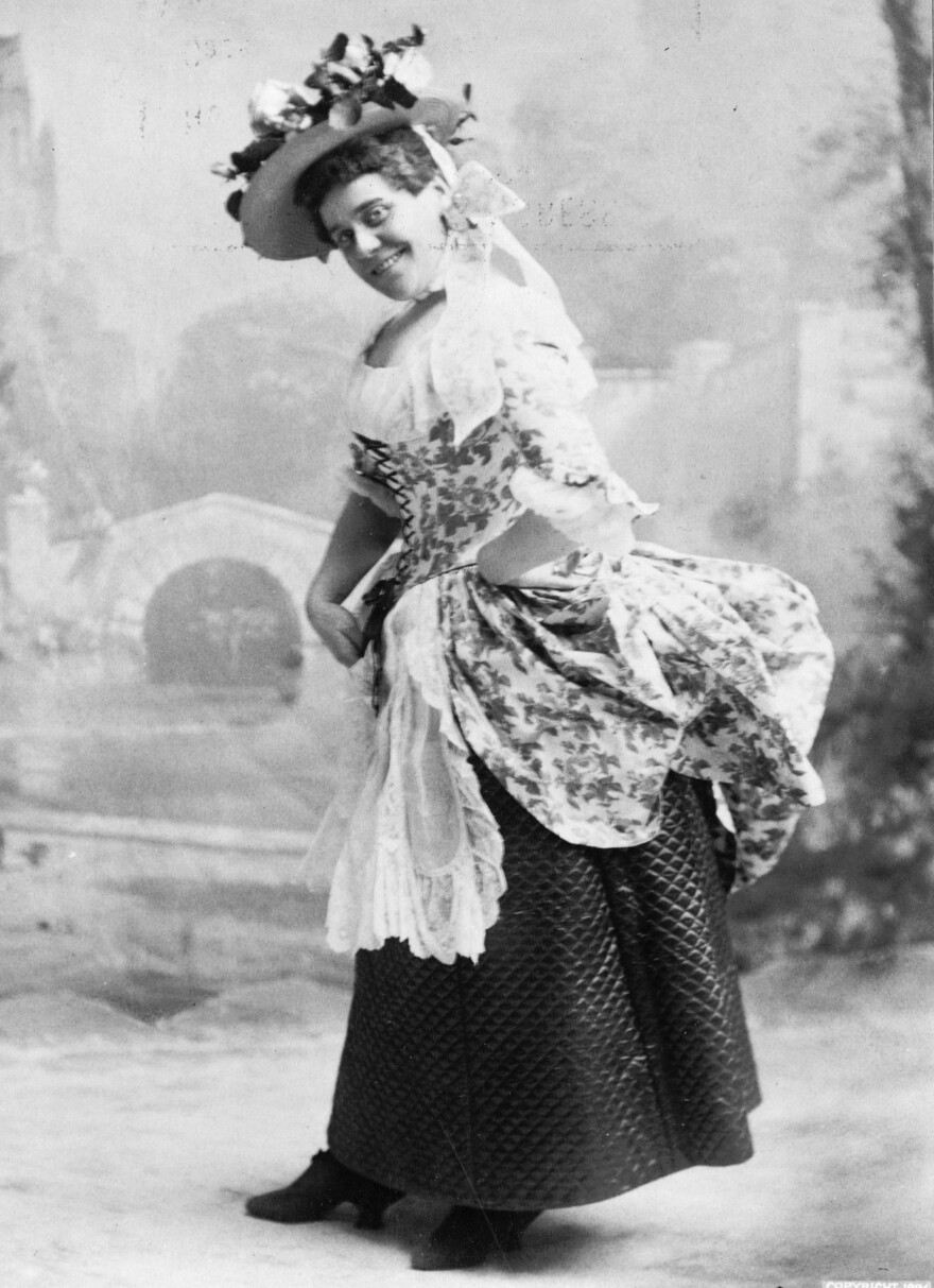 """Comic actor Fanny Rice, sometimes billed as the Funniest Woman in America,€"""" in 1896."""