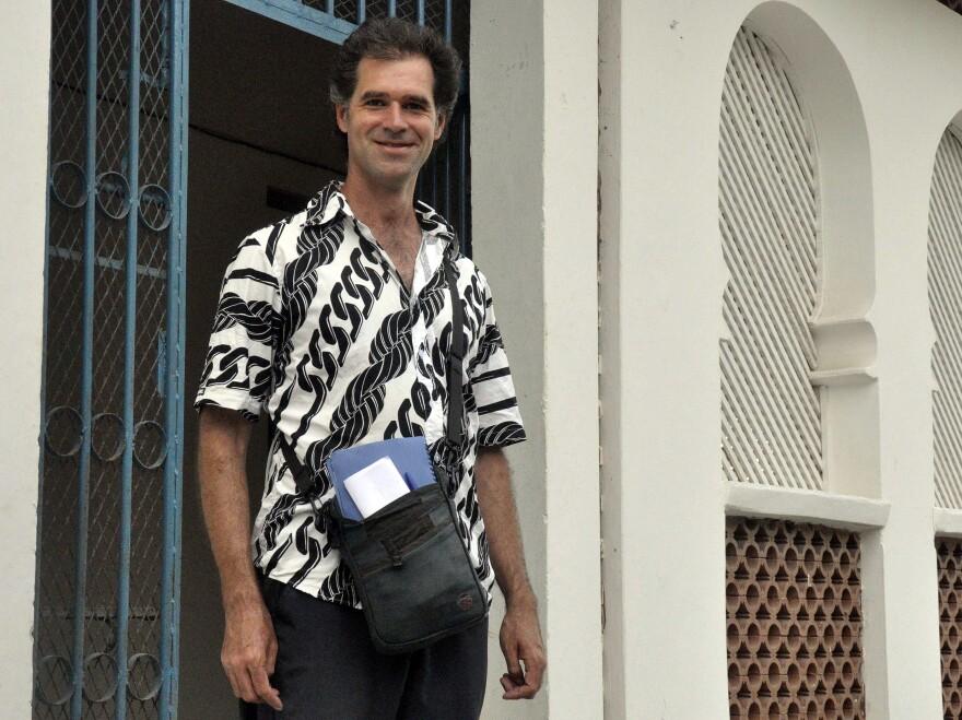 Mike Spencer Bown in Mogadishu, Somalia, in December 2010.