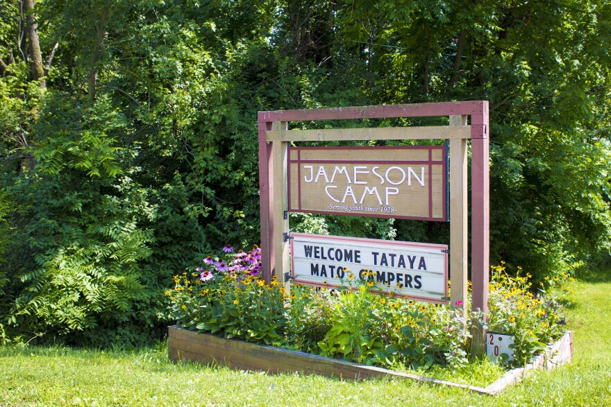 Jameson Camp welcomes campers to Tataya Mato week. The week is just for campers affected by HIV/AIDS, meaning either they or a family member has the disease.
