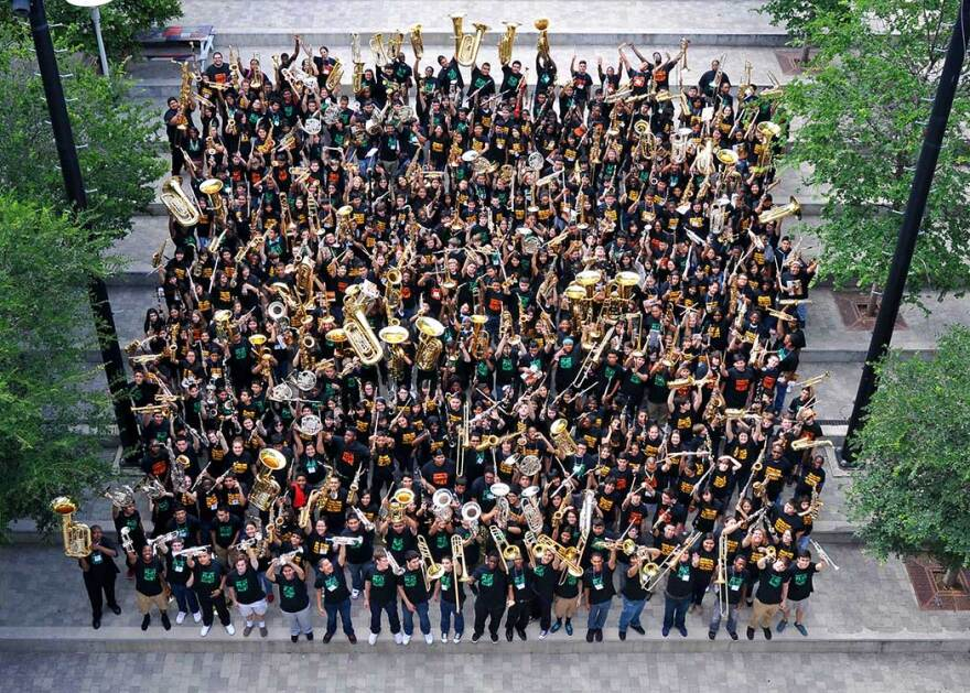 This is a photo of the 2015 Dallas Winds Band Camp participants