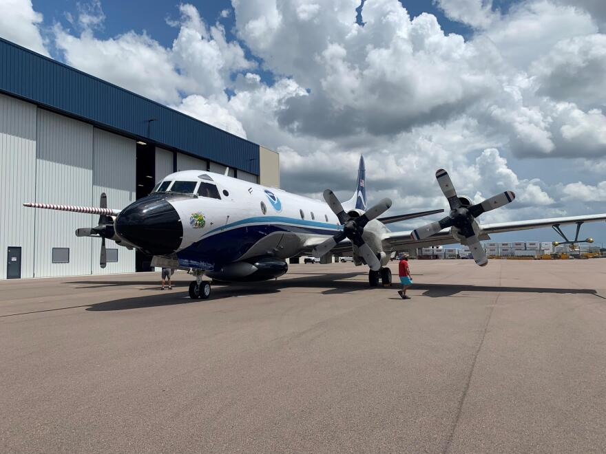 The five workers at NOAA's hurricane hunter base in Lakeland have been asked to self-quarantine for 14 days.