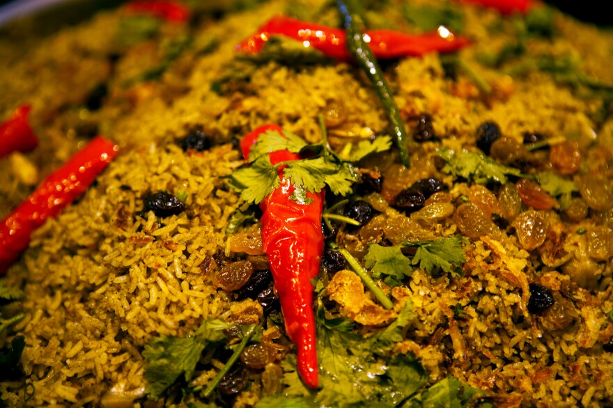 Biryani is a popular South Asian dish made with rice and meat, fish or vegetables. Though it is rarely made with beef, it has recently become the target of some Hindu activists in India who want to protect the holy cow.