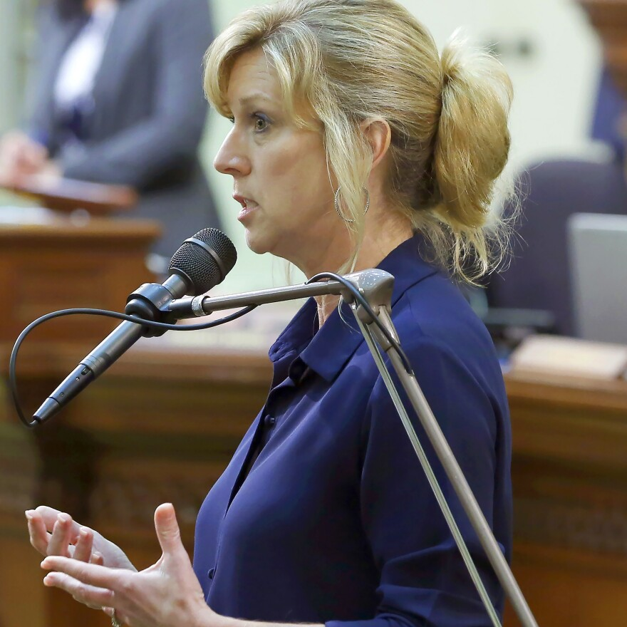 Democratic U.S. House candidate Christy Smith is seen a 2019 file photo.