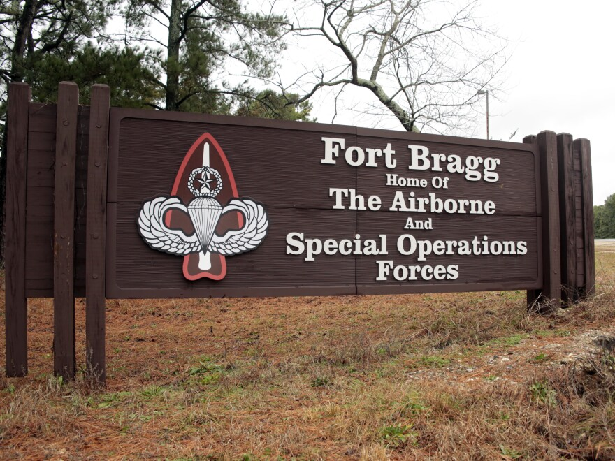 Fort Bragg in North Carolina is one of 10 bases that are named after Confederate military leaders.