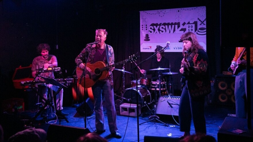 John Vanderslice performs at The Hideout in Austin, TX during the 2019 SXSW music festival.