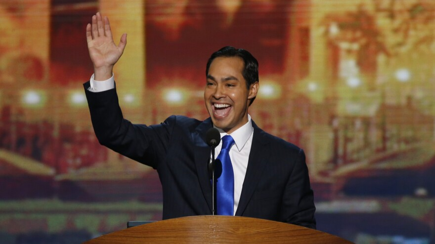 San Antonio Mayor Julian Castro delivers the keynote address at the Democratic National Convention in Charlotte, N.C., in 2012. President Obama is expected to announce Castro's nomination to become housing secretary on Friday.