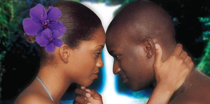 The cover of the romance novel<em> Only in Paradise, </em>by author Michelle Monkou.