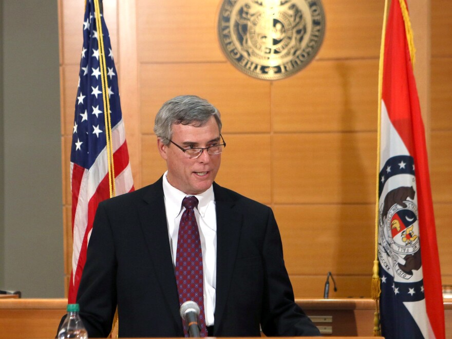 St. Louis County Prosecutor Robert McCulloch announces the grand jury's decision not to indict Ferguson police officer Darren Wilson in the Aug. 9 shooting of Michael Brown, on Nov. 24.