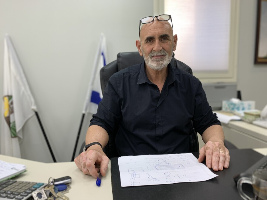 David Alhayani, chair of the Yesha Council, the top leadership group of Israel's West Bank settler movement, at his office in the Jordan Valley area of the West Bank.