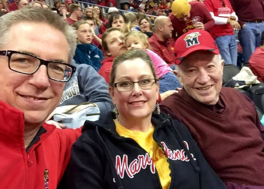 A stalwart supporter of University of Maryland sports, Dick Holter (right) had season basketball tickets and even helped turn his daughter-in-law, Rick's Kansas-born wife Shawna, into a Terp fan.<strong></strong>