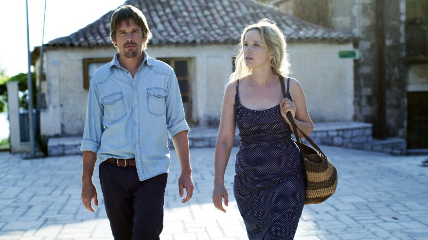<strong>Still Talking:</strong> After 18 years, Jesse (Ethan Hawke) and Celine (Julie Delpy) apparently have plenty left to hash out.