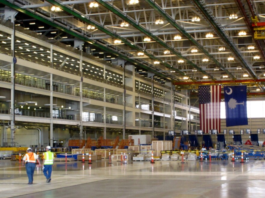 Boeing's  new plant in North Charleston, S.C., is at the center of a National Labor Relations Board dispute.