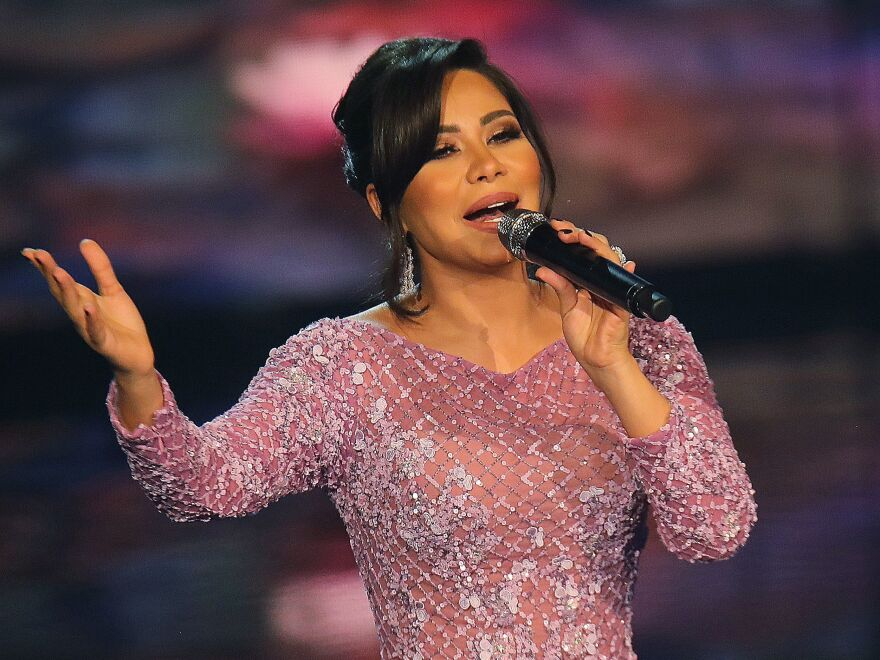 """Egyptian singer Sherine Abdel Wahhab has been sentenced to six months in prison for spreading """"false news."""""""