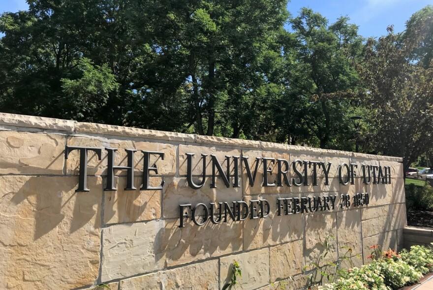 Photo of University of Utah entrance sign.