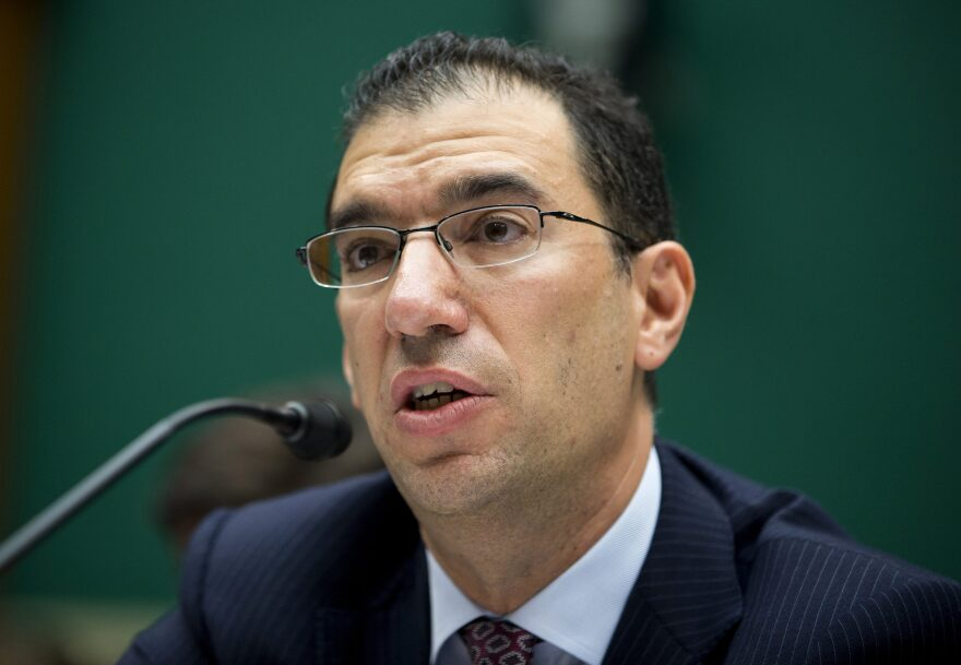 In this Oct. 24, 2013 file photo, Andy Slavitt, group executive vice president for Optum/QSSI testifies on Capitol Hill.  (Evan Vucci/AP)