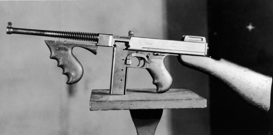 The Thompson submachine gun, or Tommy gun, was the first portable machine gun — and a favorite of Prohibition-era criminals.