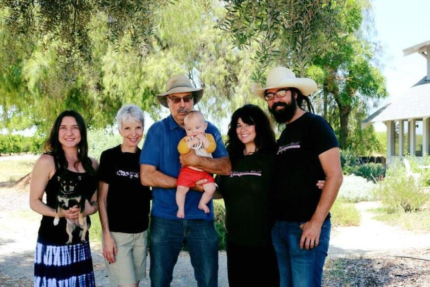 The Loewen family farms around 80 acres of tree fruit in Sanger, Calif.
