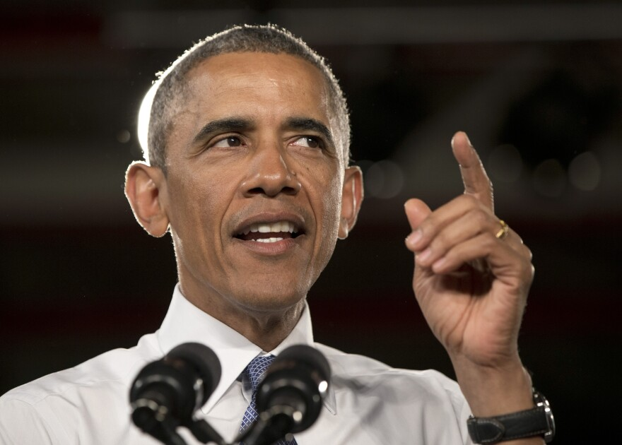 President Obama speaks at a Ford assembly plant on Wednesday in Wayne, Mich., about the resurgent automotive and manufacturing sector.