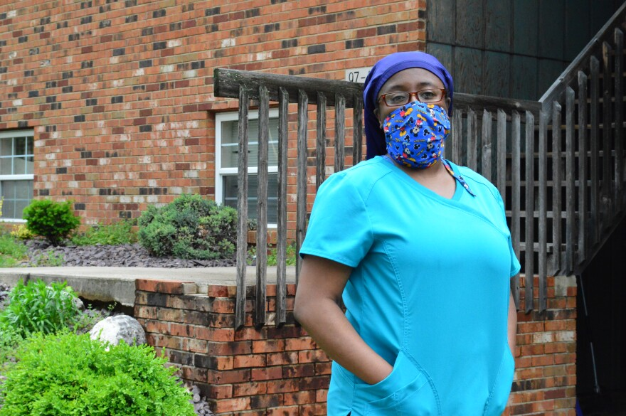 Gwenetta Dickerson lost her job in April. She was diagnosed with sickle cell anemia five years ago. The disease disproportionately affects African Americans. May 17, 2020