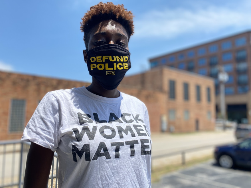 Activist Mercedes Fulbright wants to defund the Dallas Police Department. She's an organizer for the local chapter of BYP100. And believes the city's budget needs to be redrafted with social services receiving the bulk of the money.