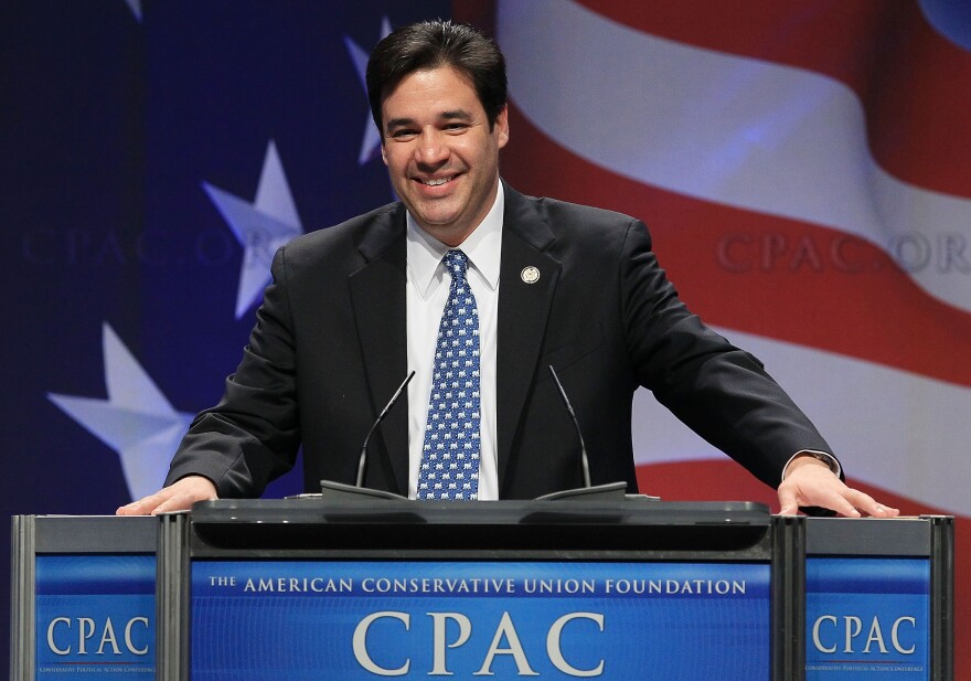 Rep. Raul Labrador (R-ID), speaks at the Conservative Political Action conference in February.