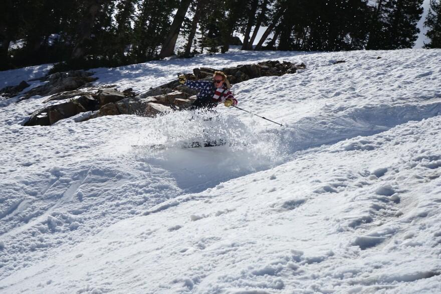 Photo of skier.