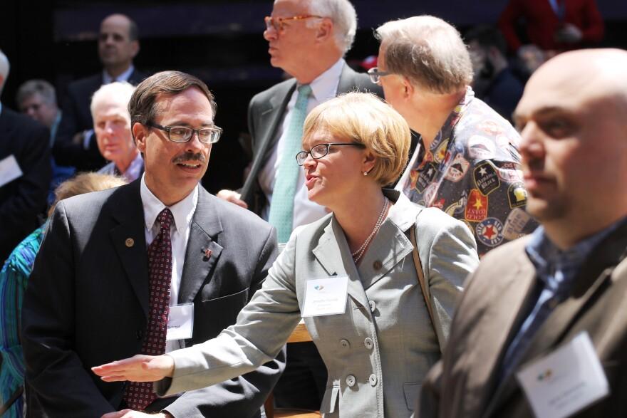Alderman Craig Schmid, D-20th Ward, left, is facing a stiff challenge for re-election.