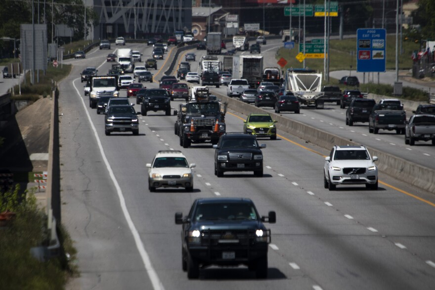 I-35 in Austin in April. The Texas Department of Transportation experienced a ransomware attack last week.