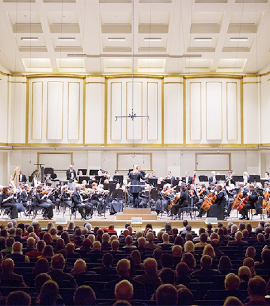 The St. Louis Symphony Orchestra, conducted by Gemma New, performing at Powel Hall