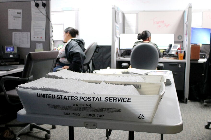 Colorado estimates that about 15% of the 12 million letters it sends to beneficiaries of public assistance programs each year are returned unopened, left to pile up in county offices like this one in Colorado Springs. That amounts to about 1.8 million pieces of undelivered mail each year statewide.