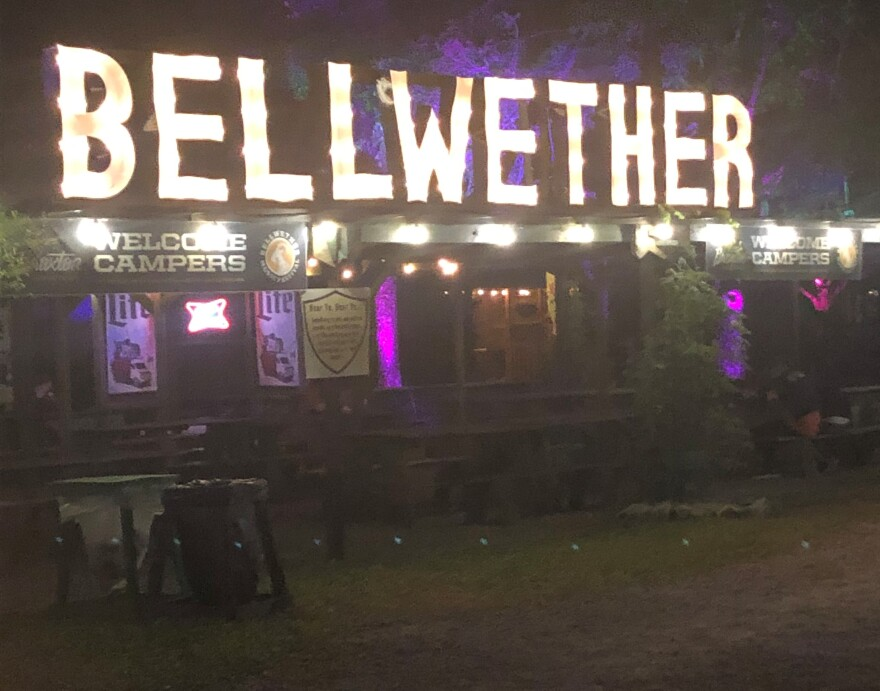 photo of the entrance to the Bellwether Music Festival