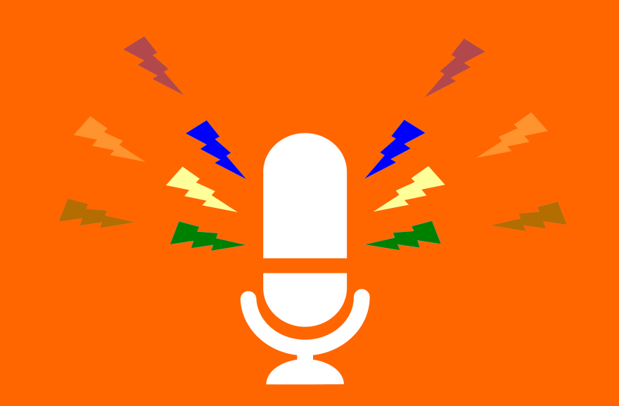 Podcast microphone.