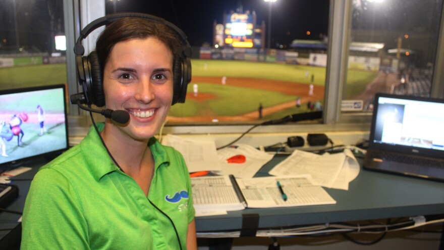 Emma Tiedemann is the Lexington Legends' play-by-play announcer and director of media relations for the team, which is the low-A affiliate of the Kansas City Royals. She's been broadcasting sports since she was 15.